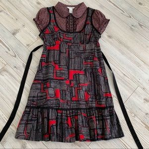 🆕 COLLARED WMN DRESS 100% COTTON-Sz L-CAP SLEEVES
